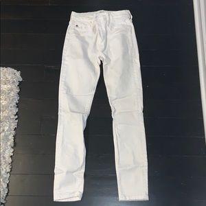 white hudson skinny jeans